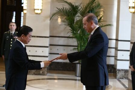 Đại sứ Phạm Anh Tuấn trình Quốc thư lên Tổng thống Recep Tayyip Erdoğan