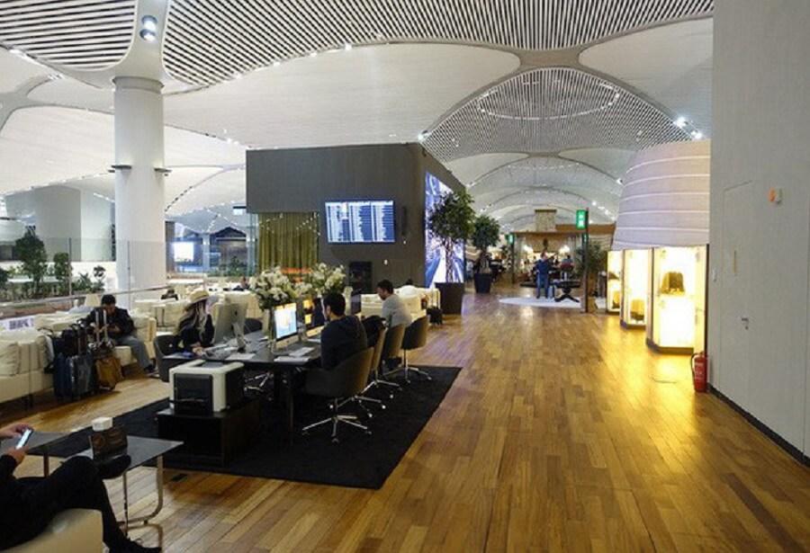 Phòng chờ sân bay Istanbul được quốc tế đánh giá như các khách sạn 5 sao bậc nhất với sự sang trọng và tiện nghi