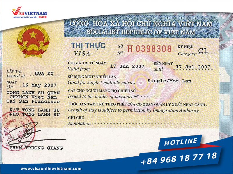 Vietnam visa for Australian citizens