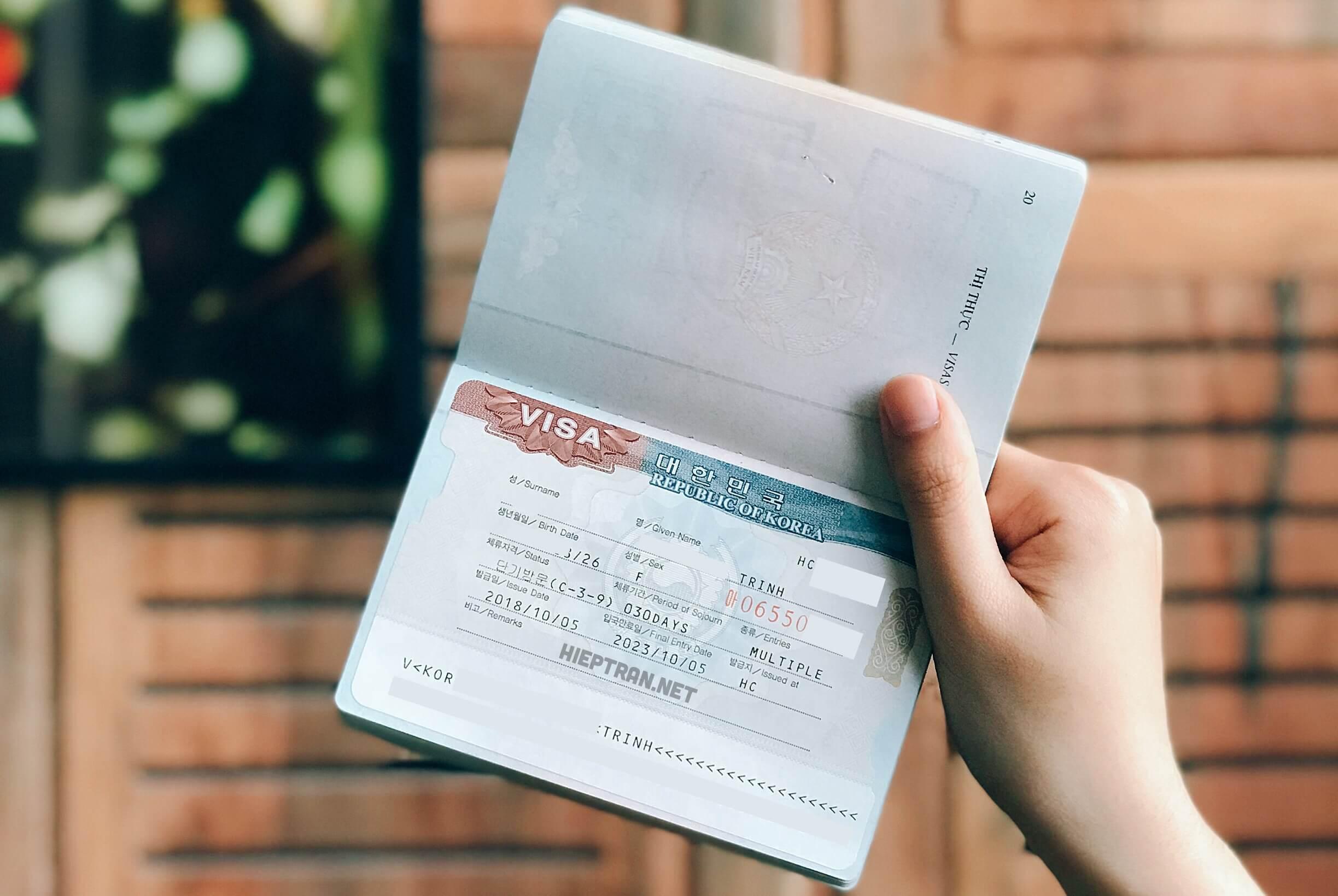 Thủ tục và quy trình xin visa Hàn Quốc 2020