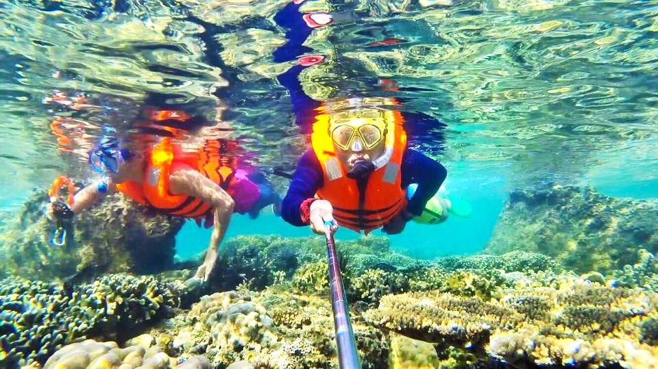Lăn biển ngắm san hô trải nghiệm tuyệt vời khi đến với đảo Bình Ba
